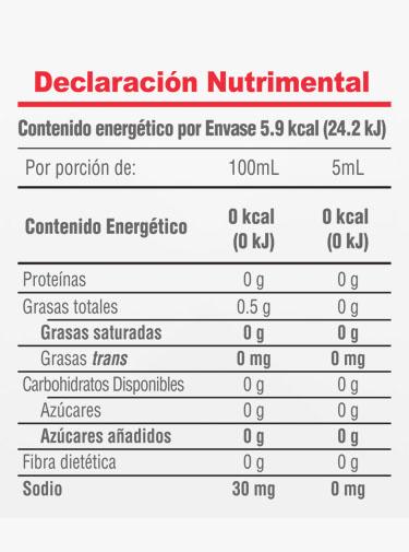 Informacion Nutrimental - Vainilla Molina® Original